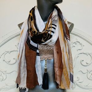 Cynthia Rowley Abstract Printed Scarf/Wrap NWOT